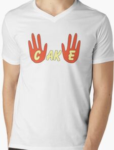 Cake (Cartoon Style) Mens V-Neck T-Shirt