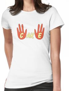 Cake (Cartoon Style) Womens Fitted T-Shirt