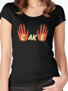 Cake (Human Style) Women's Fitted Scoop T-Shirt