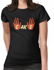 Cake (Human Style) Womens Fitted T-Shirt