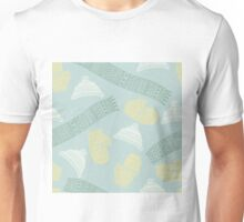 Winter scarves, hats and gloves design Unisex T-Shirt