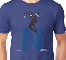 Nightwing - Superhero Minimalist Alphabet Clothing Unisex T-Shirt