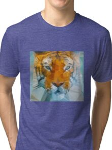Polygon art tiger Tri-blend T-Shirt