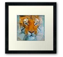 Polygon art tiger Framed Print