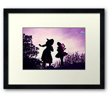 Mandy Monarch meets Stella the Witch Framed Print