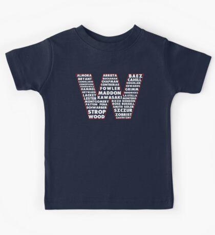 W is for Win Flag - Fun North Side Sports Roster Logo Kids Tee