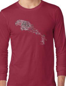 Bubbles the Snow Leopard Long Sleeve T-Shirt