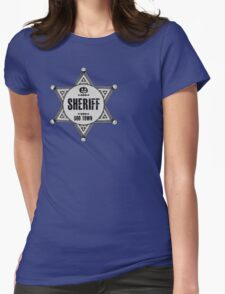 Halloween - Boo Town Sheriffs Badge  Costume Womens Fitted T-Shirt