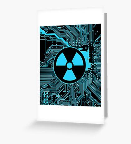 Cybergoth - Radioactive (blue) Greeting Card