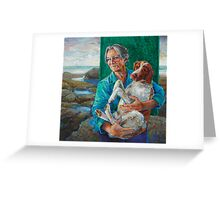 Mother and dog Greeting Card