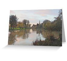 The Avon in December Greeting Card