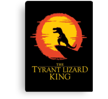 The Tyrant Lizard King  Canvas Print