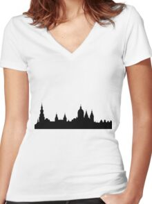 Amsterdam skyline Women's Fitted V-Neck T-Shirt