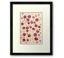 Rote Blümchen Framed Print