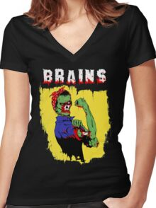 Rosie The Zombie Women's Fitted V-Neck T-Shirt