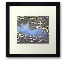 Claude Monet - Water Lilies Mini Skirt Print Clock Framed Print