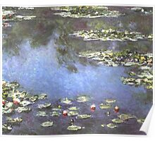 Claude Monet - Water Lilies Mini Skirt Print Clock Poster