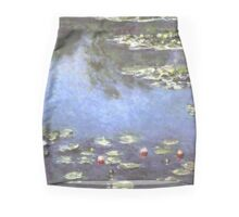 Claude Monet - Water Lilies Mini Skirt Print Clock Mini Skirt