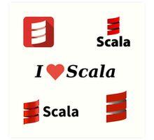 scala programming language sticker set Art Print