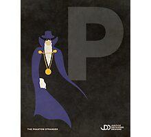 The Phantom Stranger - Superhero Minimalist Alphabet Print Art Photographic Print