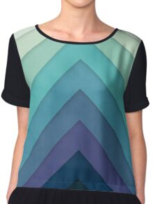 Retro Chevrons 001 Chiffon Top