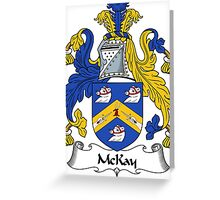 McKay Coat of Arms / McKay Family Crest Greeting Card