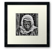 Old Man in Cairo Bazaar Framed Print