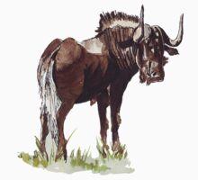 Black Wildebeest (Connochaetes gnou) One Piece - Short Sleeve