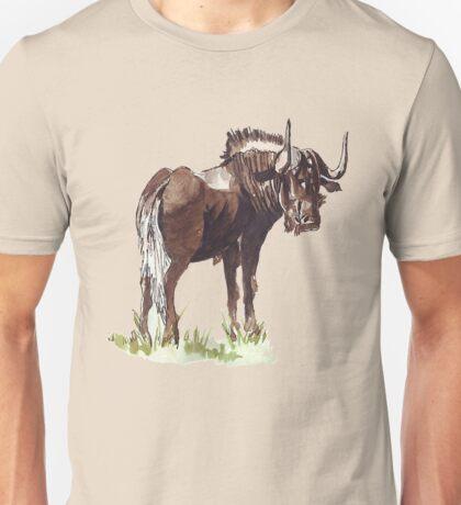 Black Wildebeest (Connochaetes gnou) Unisex T-Shirt