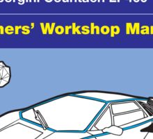 Owners' Manual - Automan Car - Poster & stickers Sticker