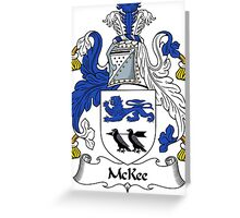 McKee Coat of Arms / McKee Family Crest Greeting Card