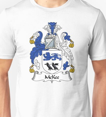 McKee Coat of Arms / McKee Family Crest Unisex T-Shirt
