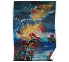 Acrylic Sea Sunset Poster