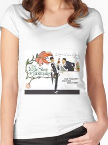 The Little Shop of Horrors vintage poster Women's Fitted Scoop T-Shirt