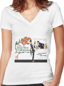 The Little Shop of Horrors vintage poster Women's Fitted V-Neck T-Shirt