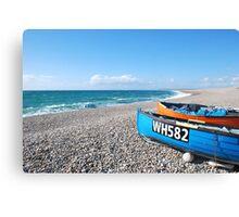 Chesil Beach Boats Canvas Print