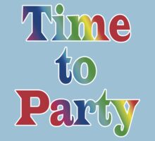 Time To Party - Wall Clock Kids Tee