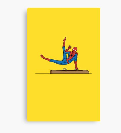 Acrobatic Superhero Canvas Print