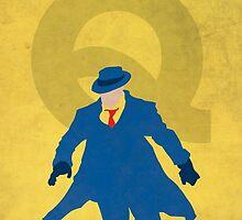 The Question - Superhero Minimalist Alphabet Print Art by justicedefender
