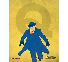 The Question - Superhero Minimalist Alphabet Print Art Photographic Print