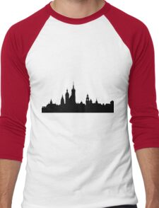 Krakow skyline Men's Baseball ¾ T-Shirt