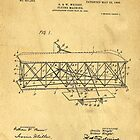 Original Patent for Wright Flying Machine 1906 by Edward Fielding