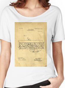 Original Patent for Wright Flying Machine 1906 Women's Relaxed Fit T-Shirt