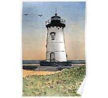 Edgartown Lighthouse - A Watercolor Pen and Wash Poster