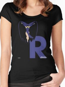 Raven - Superhero Minimalist Alphabet Clothing Women's Fitted Scoop T-Shirt