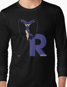 Raven - Superhero Minimalist Alphabet Clothing Long Sleeve T-Shirt