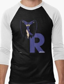 Raven - Superhero Minimalist Alphabet Clothing Men's Baseball ¾ T-Shirt