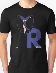 Raven - Superhero Minimalist Alphabet Clothing Unisex T-Shirt