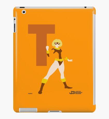 Terra - Superhero Minimalist Alphabet Clothing iPad Case/Skin