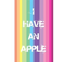 I have an Apple Photographic Print